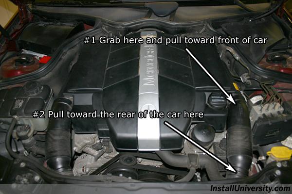 Power steering fluid mercedes benz c class w203 for Mercedes benz power steering fluid