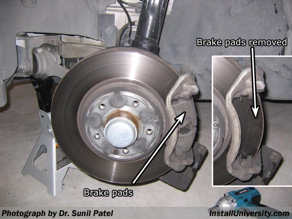 Replace brake pads mercedes c180 for Mercedes benz rotors replacement
